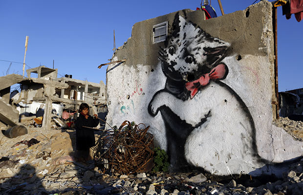 Banksy on Palestine's broken walls: the medium really is the message