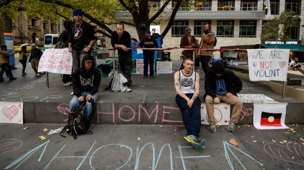 Conversations with Melbourne's homeless protesters